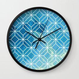 Geometric Crystals: Stormy Sea Wall Clock