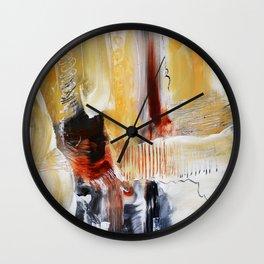 Brown red art  Wall Clock