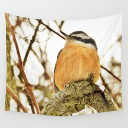 Curious Nuthatch Wall Tapestry