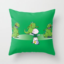 Jurassic Baby Throw Pillow