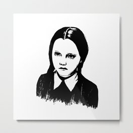 Addams Family Wednesday Metal Print