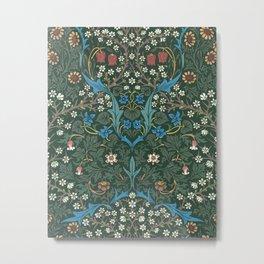 William Morris Blackthorn Wallpaper Block Print Pattern, 1892 Metal Print