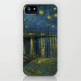 Classical Masterpiece 'Starry Night Over the Rhône' by Vincent van Gogh iPhone Case