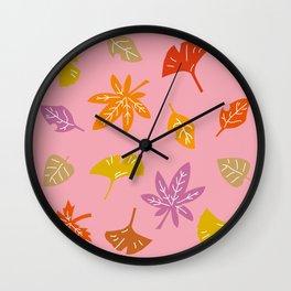 Autumn Leaves_D Wall Clock