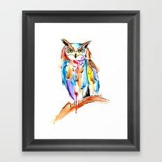 watercolor owl Framed Art Print