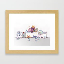 Why Cats Drink: Because Bowie Framed Art Print