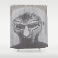 doom Shower Curtains featuring MF Doom by Ous Art