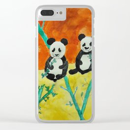 Pandas Clear iPhone Case