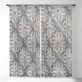 Metallic And Decorative - Grey Monochrome #decor #society6 #buyart Sheer Curtain