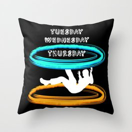 Black Hole Weekend Throw Pillow