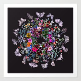 Butterfly Garden Art Print