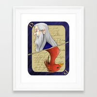 dumbledore Framed Art Prints featuring Albus Dumbledore by Imaginative Ink
