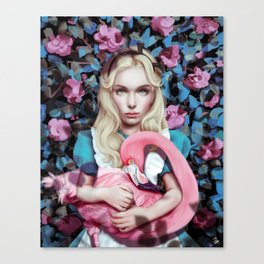 """Alice in Wonderland"" by Giulio Rossi Canvas Print"