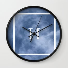 H in the Clouds Wall Clock