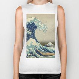 Katsushika Hokusai -The Great Wave off Kanagawa Biker Tank