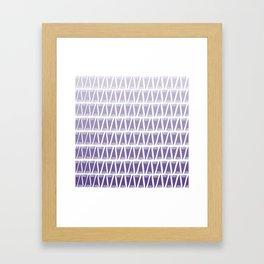 Tee Pee Gradient Ultra Violet Framed Art Print
