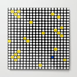 Halftone with Yellow Squares Metal Print