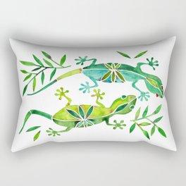 Geckos – Green Palette Rectangular Pillow
