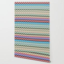 Modern Geometric NeoTribal Chevron Stripes Wallpaper