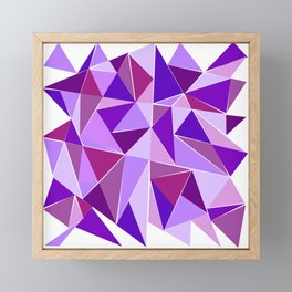 Purple Shards Geometric Pattern Framed Mini Art Print