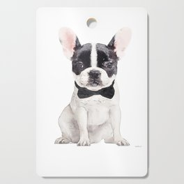 Black and white, French bulldog, bow tie, Frenchie, Puppy, Cutting Board