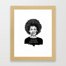 I Am Black Every Month Framed Art Print
