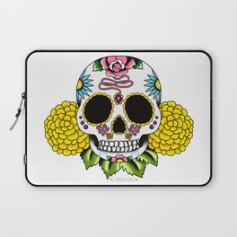 Day of the Dead Flash | Sugar Skull 2 Laptop Sleeve