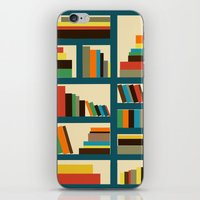 library iPhone & iPod Skins featuring library by vitamin