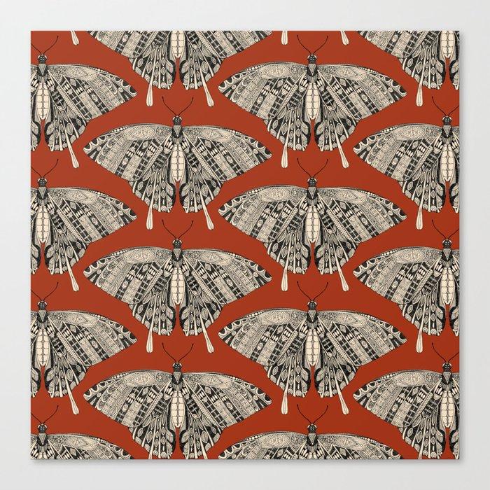 swallowtail butterfly terracotta black Canvas Print