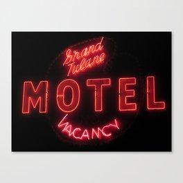 Grand Tulane Motel Canvas Print