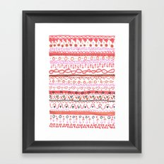 Red Design Framed Art Print