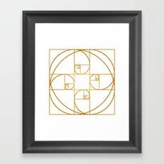 Golden Sprout Framed Art Print