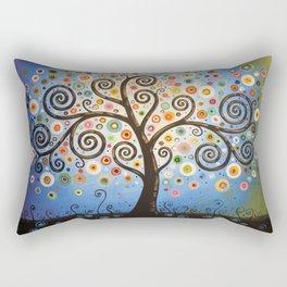 Abstract Art Landscape Original Painting ... Twilight Dreams Rectangular Pillow