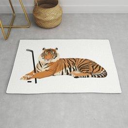 Ice Hockey Tiger Rug