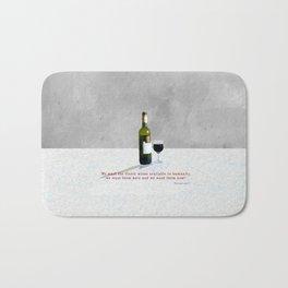 Glass of Wine Bath Mat
