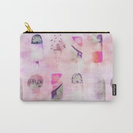 Ice Cream popsicles pastel tone watercolor art Carry-All Pouch