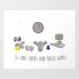 The Great Space Race Art Print