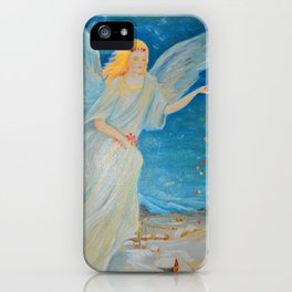Bless me   Guardian Angels are Here   Angel of Abundance   Love iPhone Case