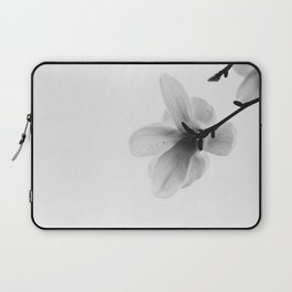 The Single Flower (Black and White) Laptop Sleeve