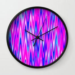 WAVY #1 (Blues, Purples & Fuchsias) Wall Clock