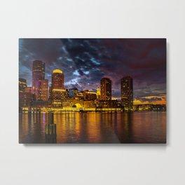 Harbor Lights Metal Print