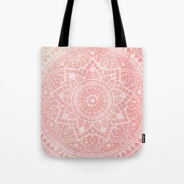 Pink Mandala Tote Bag