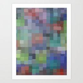 Abstract pixel pattern Art Print