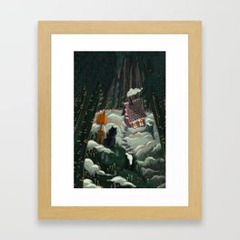 the witch in the gingerbreadhouse Framed Art Print