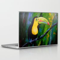 toucan Laptop & iPad Skins featuring Toucan by OLHADARCHUK