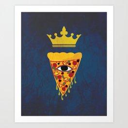 Pizza King Art Print