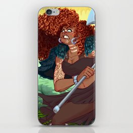 Red Head Warrior iPhone Skin