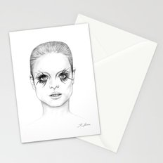 Bright Eyed Girl Stationery Cards