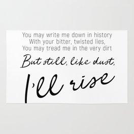 I'll rise #minimalism Rug