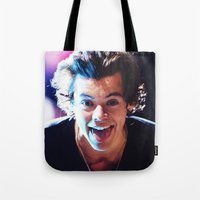 harry styles Tote Bags featuring Harry Styles by harrystyless